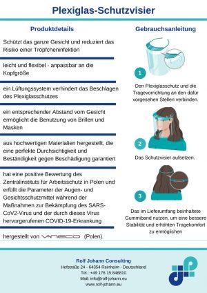 Flyer Plexiglas-Schutzvisier